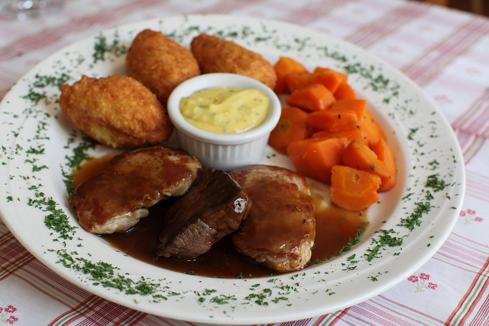 Pork and Beef Medallions